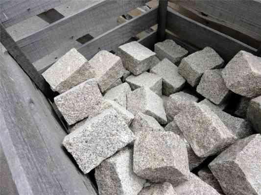 Pavés granit gris 20x14 cm