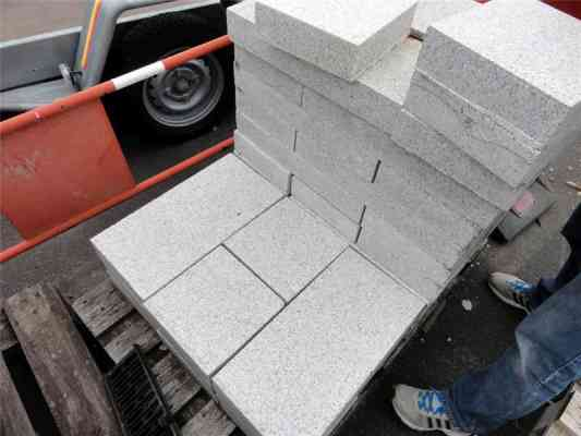 Dalles granit blanc 50/25 cm