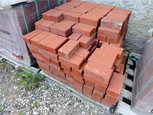 Briques de pavage rouges BLOCKLEYS