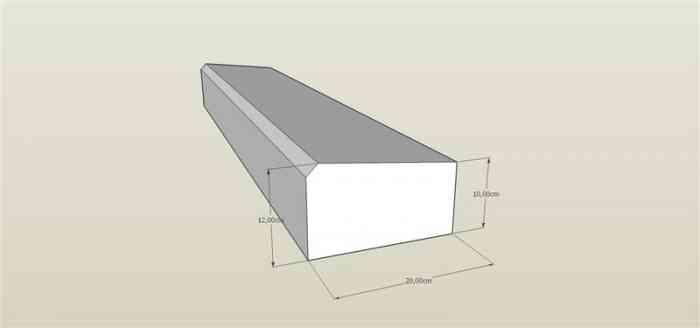 Caniveau granit gris CS1