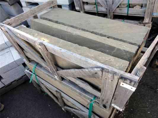 Bordures grès gris beige 100x20x25 cm