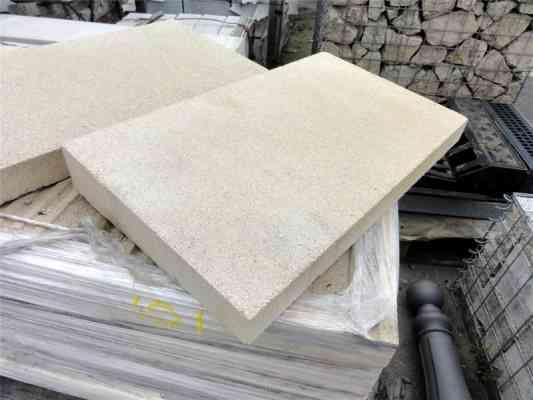 Cadettes couvertines béton beige 49x28 cm