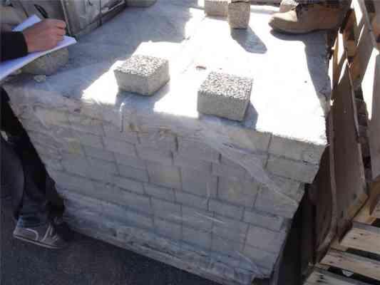 Pavés béton gris 12x12x6