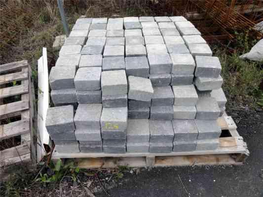 Pavés béton gris 12x12x6 cm