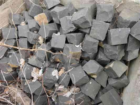 Pavés en basalte 10x10 cm