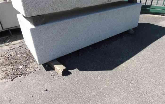 Banc granit gris 173x60x40 cm