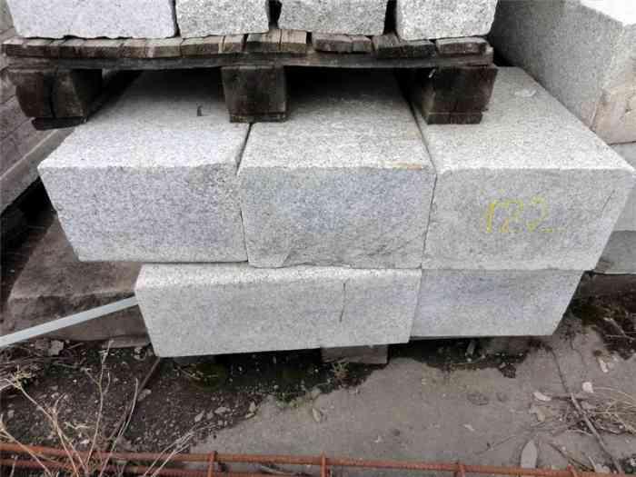 Cadettes couvertines granit gris 50x20x30 cm