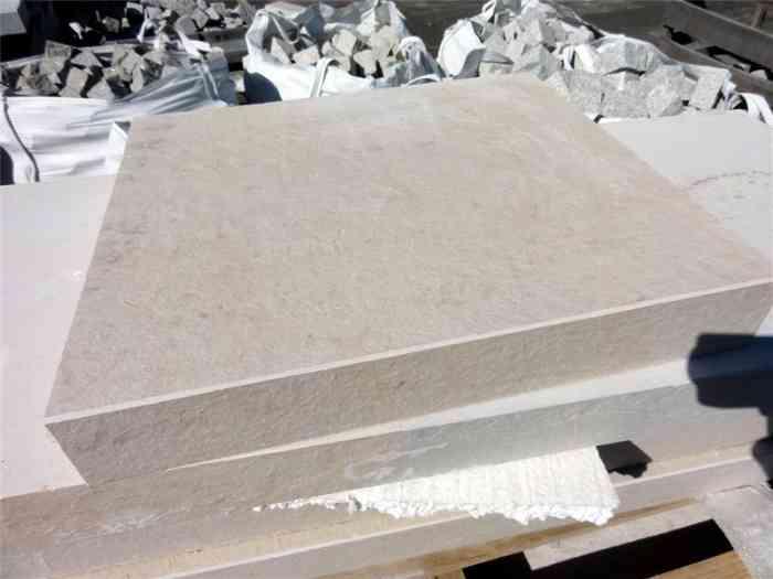 Dalles couvertines calcaire beige 44x7 cm