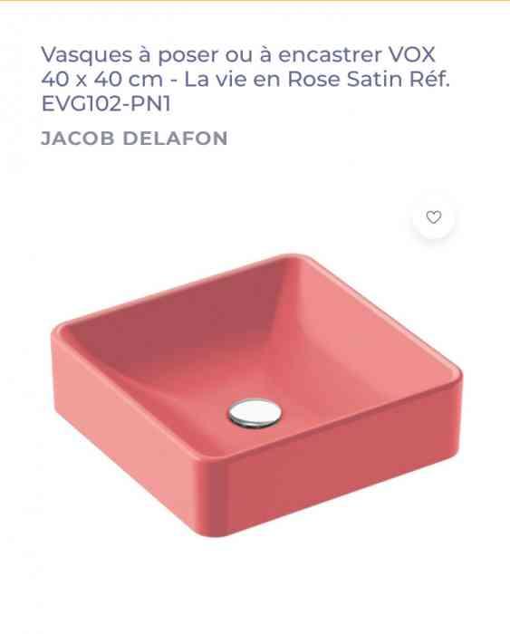Vasque à poser 40*40cm